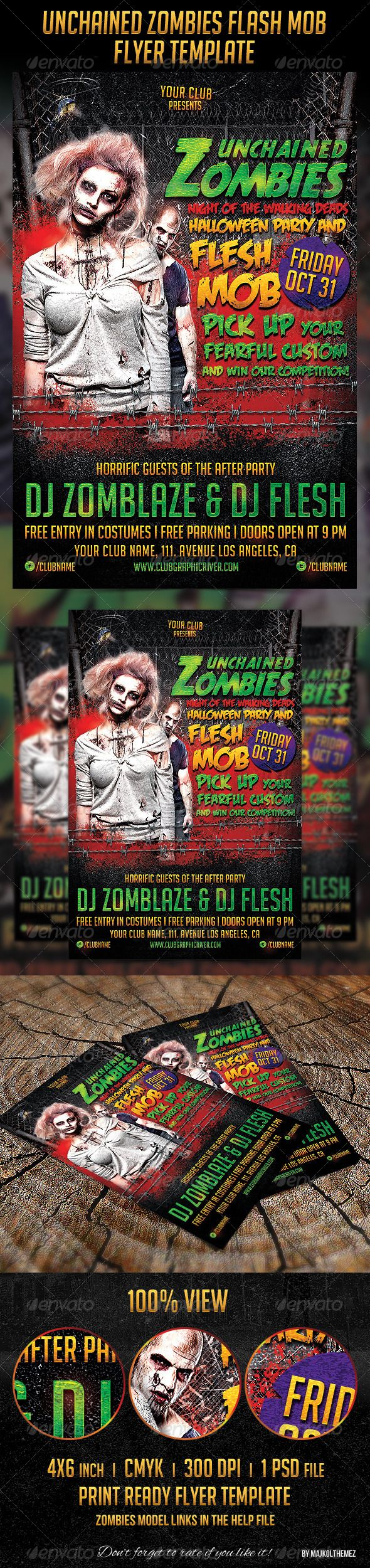 71 best images about Flyer Templates PSD – Zombie Flyer Template