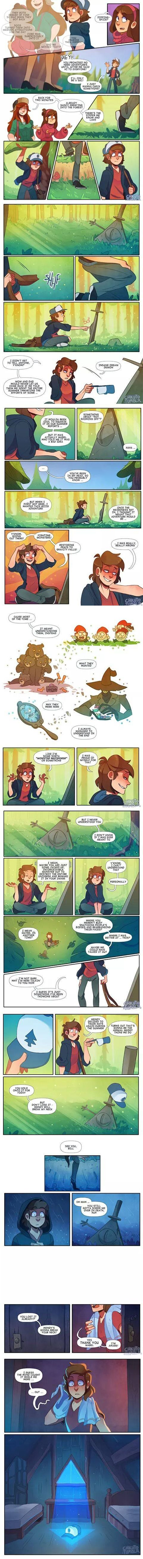 Gravity Falls. This is so AWESOME!!!!!!!! This story, it's soooo epic. And………BILL IS BACK BABY!!!!!!!!!!'