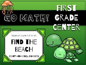 Go Math! First Grade Chapter 6 Center: Find the Beach. This game was specifically created to support Chapter 6 of the first grade Go Math! curriculum, but it can be used by anyone to reinforce place value skills!