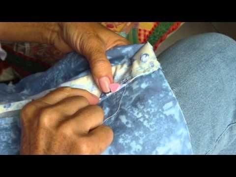 Patchwork PatchAula Costura Virada da Agulha ou Ponto Invisível Rose Becker
