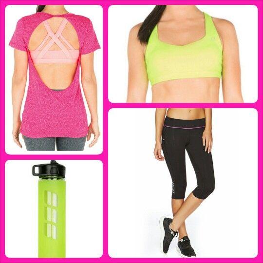 Bright Neon Greens and Pink teamed up to make my 2013 Lorna Jane Wish List #ljwishlist