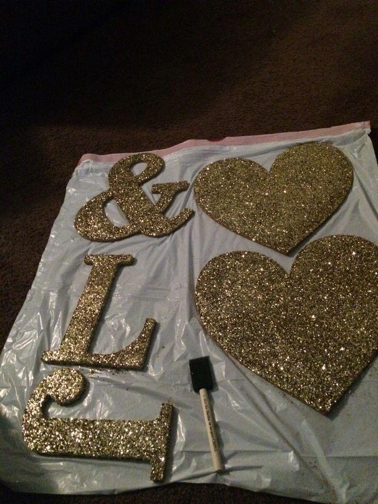 Black and gold decor DIY
