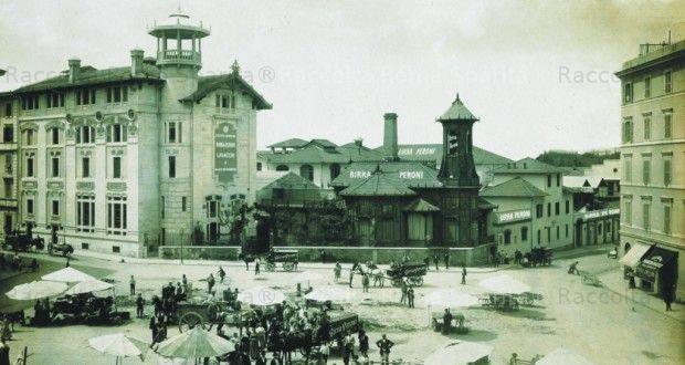 Foto storiche di Roma - Piazza Alessandria - Lo stabilimento della Birra Peroni