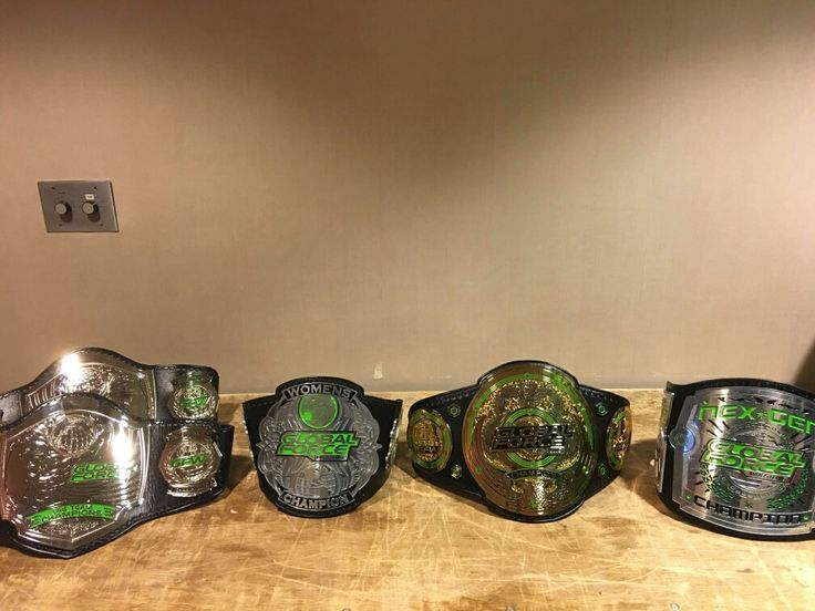 Global Force Wrestling Championship Belts