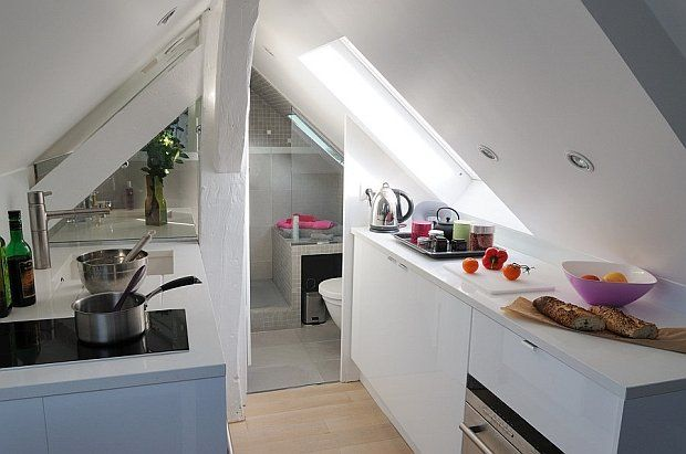 Mieszkanie w Paryżu - 16 m kw.; proj. Sylvie Cahen.
