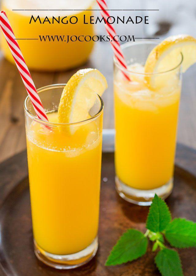 Mango Lemonade...¾ cup sugar 2 large mangos, peeled, chopped 6 tbsp fresh lemon juice. Add liquor