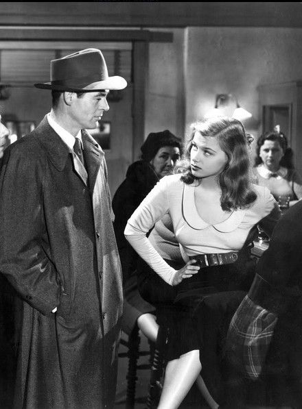 """Robert Ryan & Nita Talbot in 'On Dangerous Ground' (1952) """"...how old are you"""" ... """"Old enough."""""""