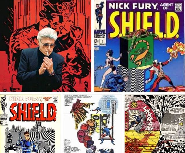 Jim Steranko,comics writer and artist who did a very acclaimed run on Nick Fury:Agent of Shield for Marvel Comics.