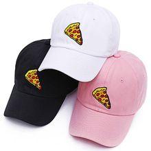 VORON nueva pizza bordado papá gorra de Camionero Sombrero de algodón Para Hombres de Las Mujeres de Tamaño Ajustable Gorra de Béisbol(China (Mainland))