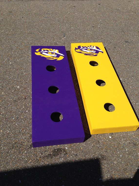 LSU  football tailgate Washer board game Pick Up by classyetsassy