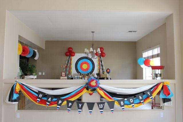 Décor at a Archery Party #archery #partydecor