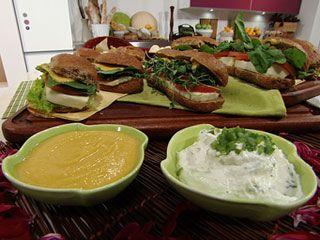 Recetas   Dips naturales, Mayonesa de zanahoria y Queso crema y verdeo   Utilisima.com