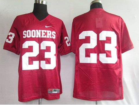 Men's NCAA Oklahoma Sooners #23 Red Jersey