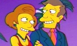 "Edna Krabappel and Principal Skinner from ""The Simpsons"""