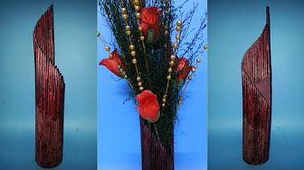 Dekoracyjne Wazon Tutorial | Matowe Look - Łatwy Handmade Pomysł na prezent - YouTube