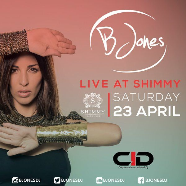 The talented @bjonesdj will be back at Shimmy Beach Club in Cape Town this Saturday, 23 April.Reserve your VIP couch pocket: 021 200 7778 for best nightlife spot