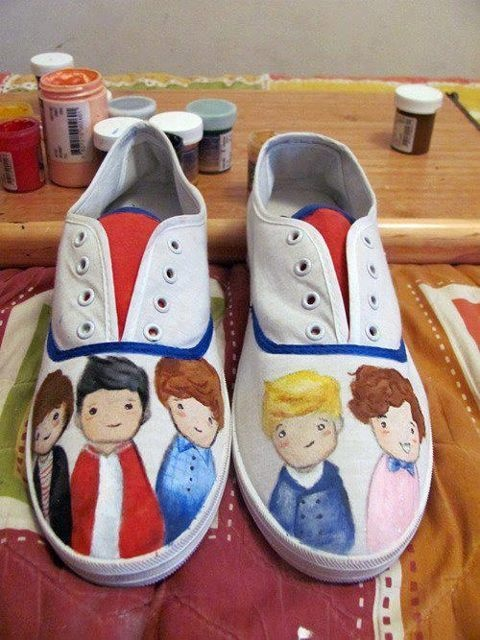 One Direction shoes <3