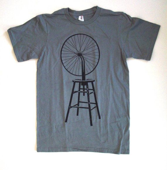 Marcel Duchamp Bicycle Wheel T Shirt S M L XL storm by abjectbirth, $16.00