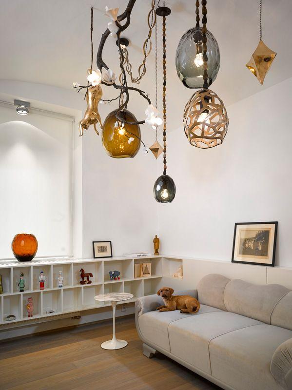 ARTĚL'S new Concept Store on Platnéřská - David Wiseman custom made Chandelier
