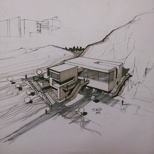 great use of pen to give general structure and even better use of marker to help give viewers in idea of different surfaces and areas.