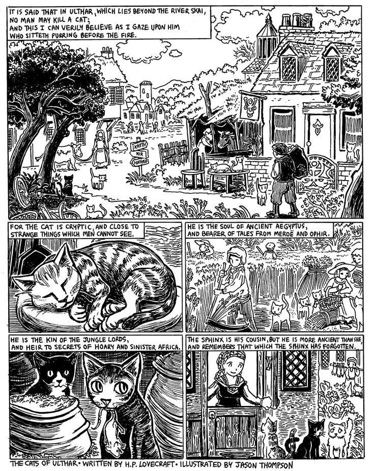 The Cats of Ulthar H.p. lovecraft, Dibujos, Gatos