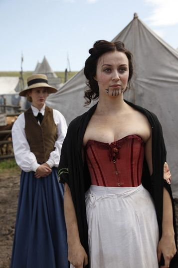 Hell on Wheels  Lily Bell (Dominique McElligott) and Eva (Robin McLeavy)