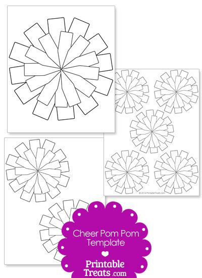 Cheer Pom Pom Template from PrintableTreats.com