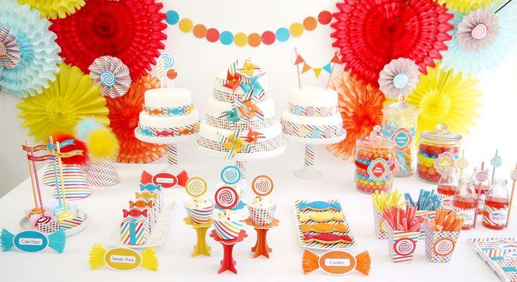 """Une sweet table spéciale """"Party""""- à imprimer"""