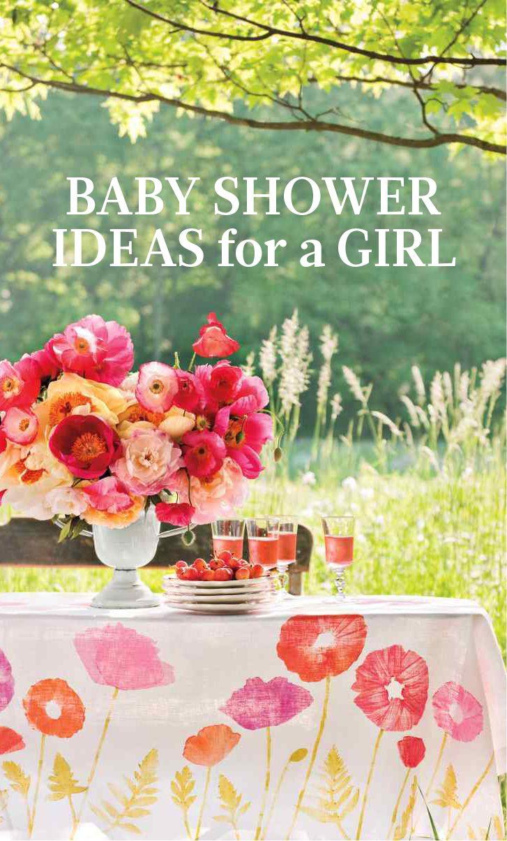 Baby Shower Ideas For A Girl | Martha Stewart Living   These High Spirited  Flowers