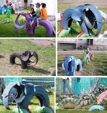 manualidades con neumaticos - Google Search: Old Tired, Tired Art, For Kids, Elephant, Kids Yard, Recycled Tired, Kids Gardens, Plays Area, Animal