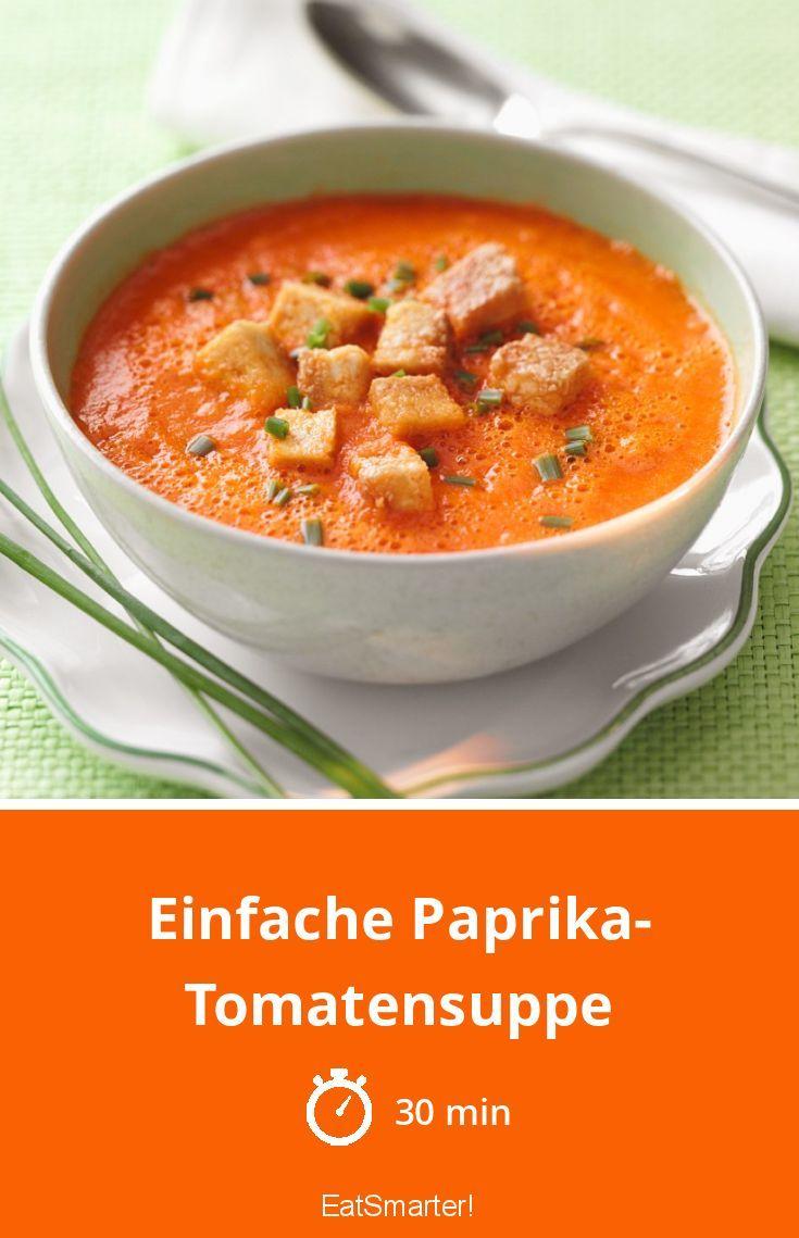 Paprika-Tomatensuppe – Rezepte mit Paprika
