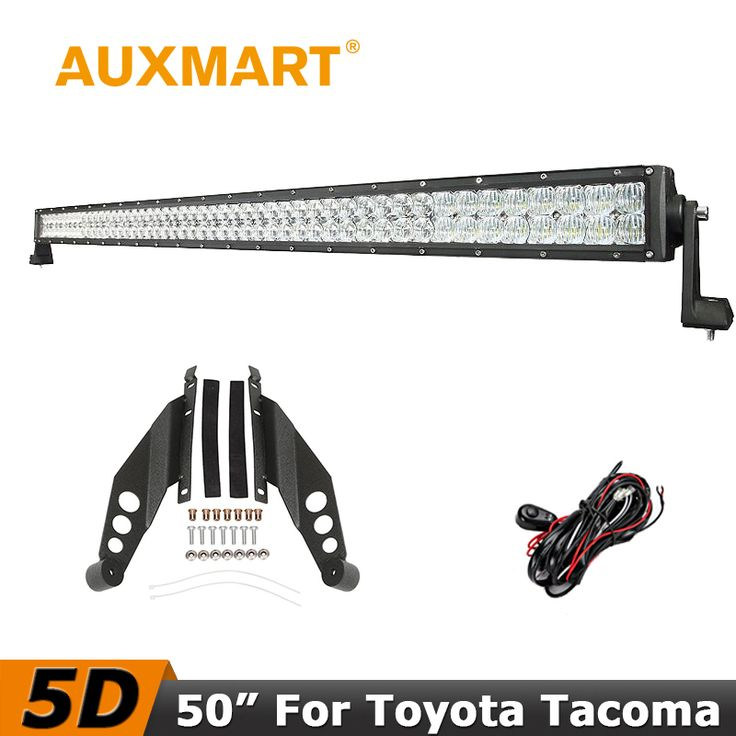 ==> [Free Shipping] Buy Best Auxmart For Toyota Tacoma 2005-2015 CREE Chips 5D 50 inch 480W LED Light Bar Offroad Driving Light Bar Mounts Brackets Kit Online with LOWEST Price | 32661147466
