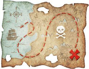 Silhouette Design Store - View Design #29903: pirate treasure map pnc