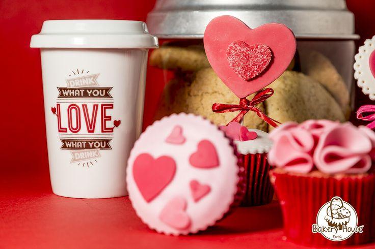 #sanvalentino #cupcake #love #mug #bakeryhouseroma