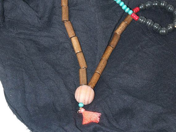 Handmade Mala Bead Mala Necklace 108 Mala Bead Tassel