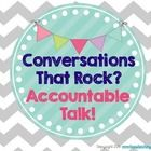 Free: These posters are useful to remind your students about accountable talk moves!  I cut out the circles and posted them on a ribbon banner.  I also u...