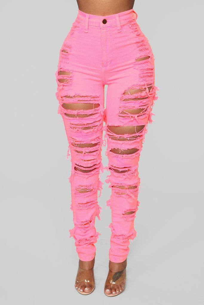 Brighter Than Your Future Skinny Jeans - Pink  dd8ff31fea8f