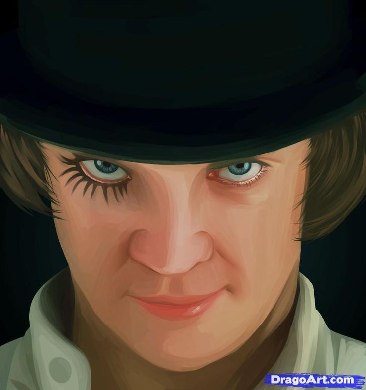 clock work orange | How to Draw Alex, A Clockwork Orange, Step by Step, Movies, Pop ...