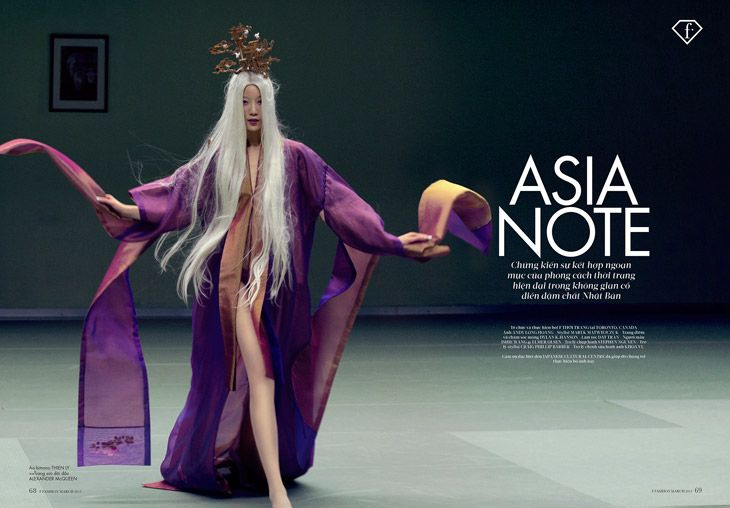 Asia Note story captured by photographer Andy Long Hoang for FTV Indochina with far East inspired styling by Marek Matwiejczuk.