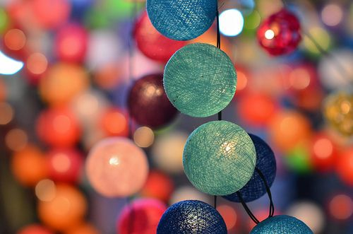 lovely lights via All Things Girly & Beautiful! party decorations. decor. colorful.