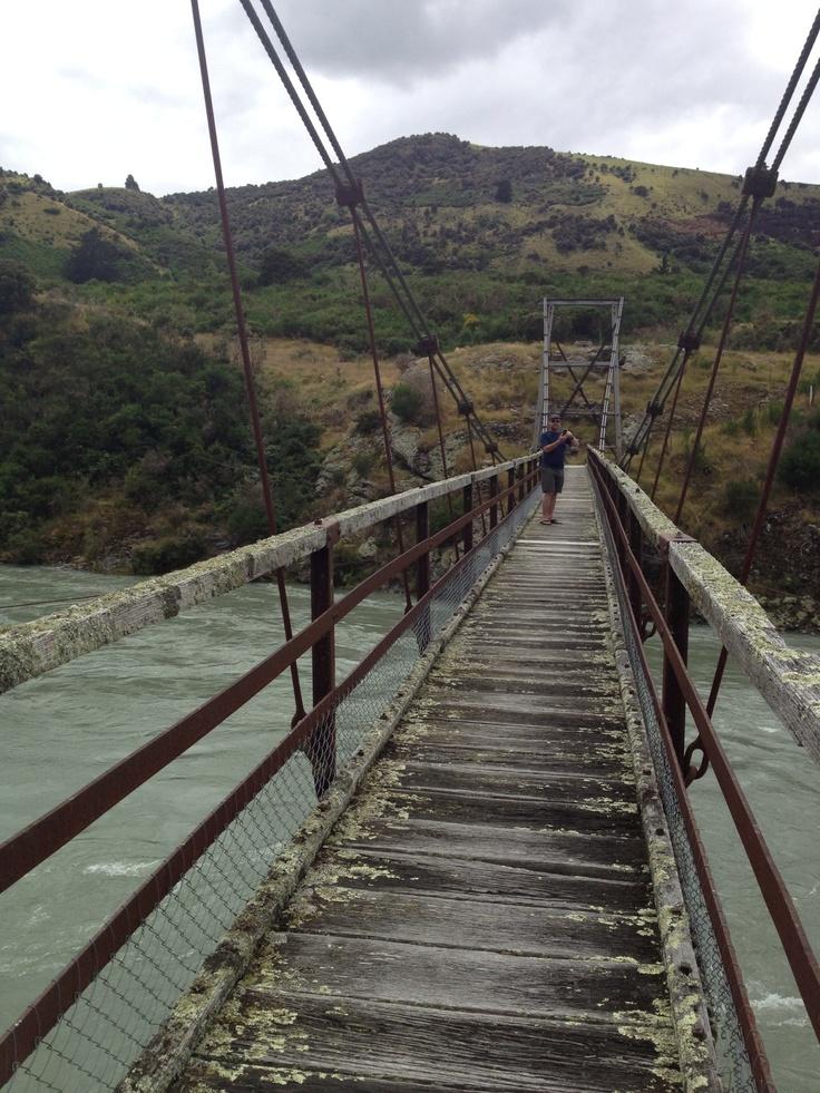 Horseshoe Bend Bridge - last working swing bridge over the Clutha River