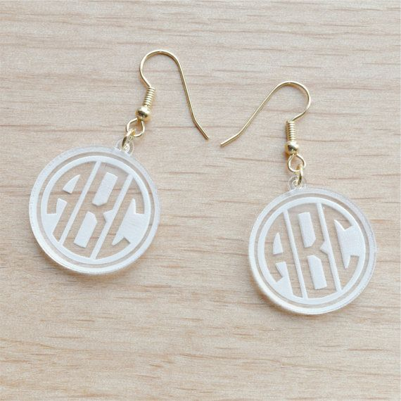 65 best jewelry ideas images on pinterest jewelry ideas items similar to engraved geometric monogram earrings personalized gift gift for niece personalized gift easter gift on etsy negle Choice Image