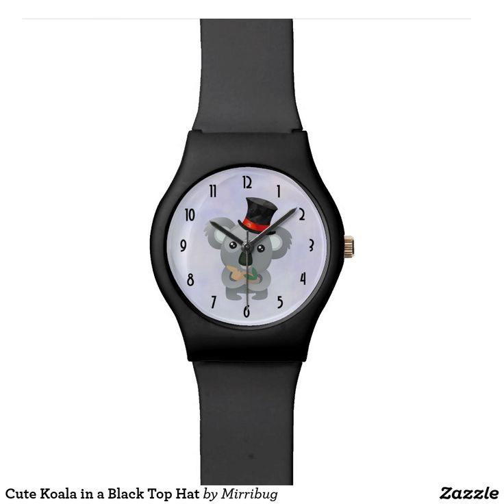 Cute Koala in a Black Top Hat Watch