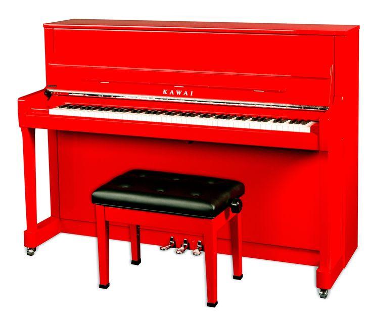 KAWAI K-200 Klavier Ferrarirot Chrom Beschläge Sondermodell   Klaviere   DEMMER OnlineShop für Klavier, Flügel und Yamaha Clavinova D-Piano