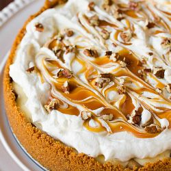 Salted Caramel Apple Cheesecake Pie | apple desserts and recipes