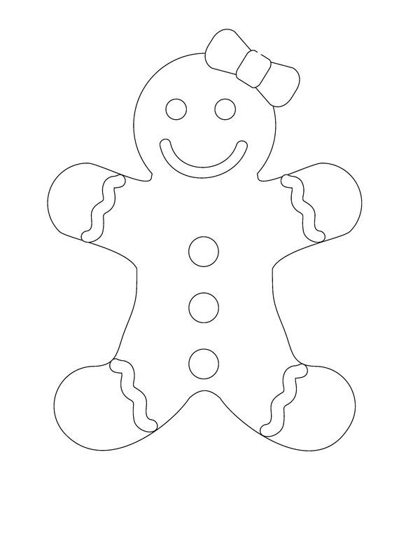 free printable gingerbread man coloring pages for kids - Gingerbread Man Color Page