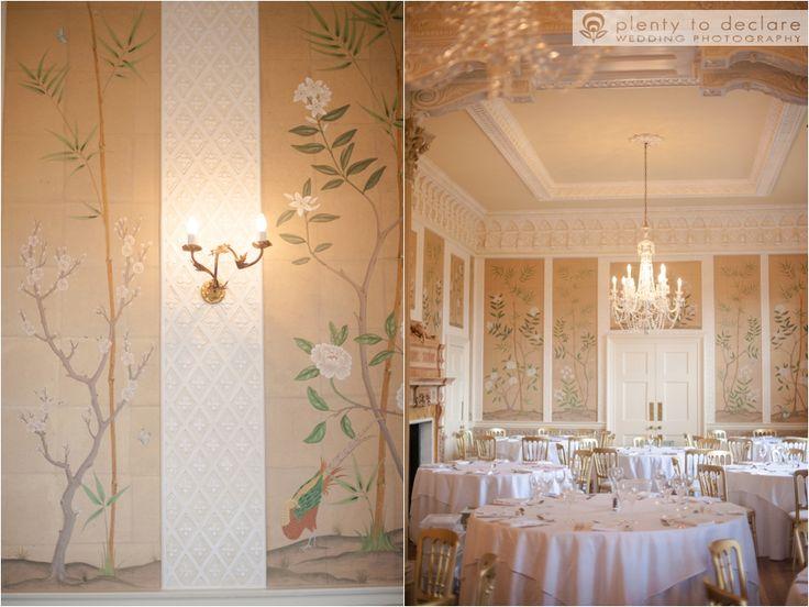 Hampden House, hand painted walls, elegant Dining Room  Plenty to Declare Wedding Photography