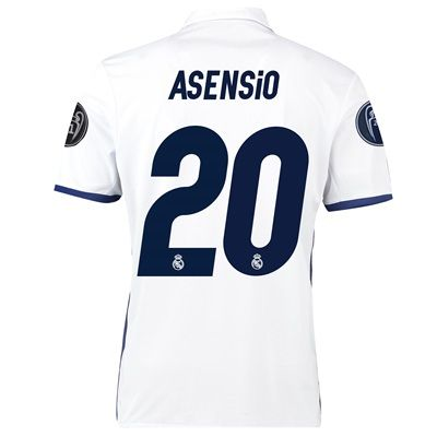 Real Madrid Home UEFA Champions League Shirt 2016-17 - Kids with Asens: with Asensio 20 printing #RealMadridShop #RealMadridStore