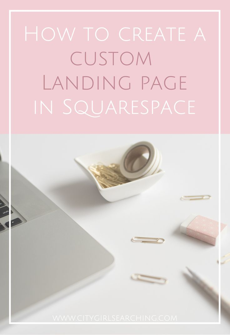 How to create a custom landing page with Squarespace. Using just this tiny bit of code you you can remove your header, navigation bar & announcement bar to create beautiful, customizable landing pages right within your squarespace blog.