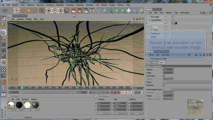 Cinema 4D tutorial: abstract 3D tentacles